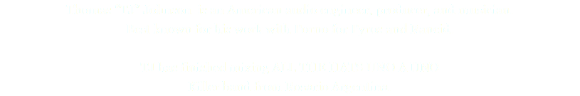 "Thomas ""TJ"" Johnson is an American audio engineer, producer, and musician. Best known for his work with Porno for Pyros and Rancid. TJ has finished mixing ALL THE HATS UNO A UNO Killer band from Rosario Argentina."